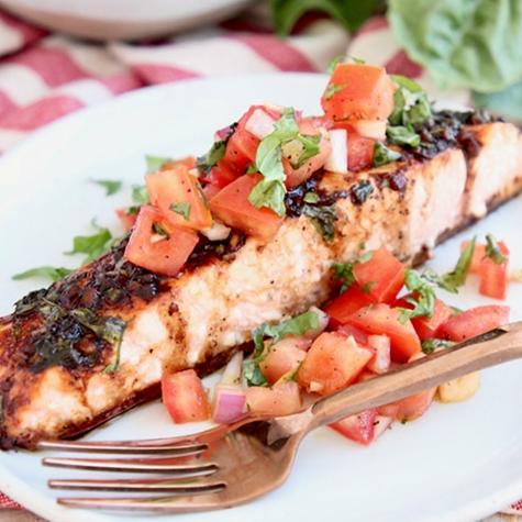 Recipe of the Week: Bruschetta Baked Salmon